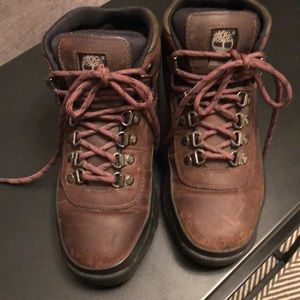 Boys Leather Timberlands